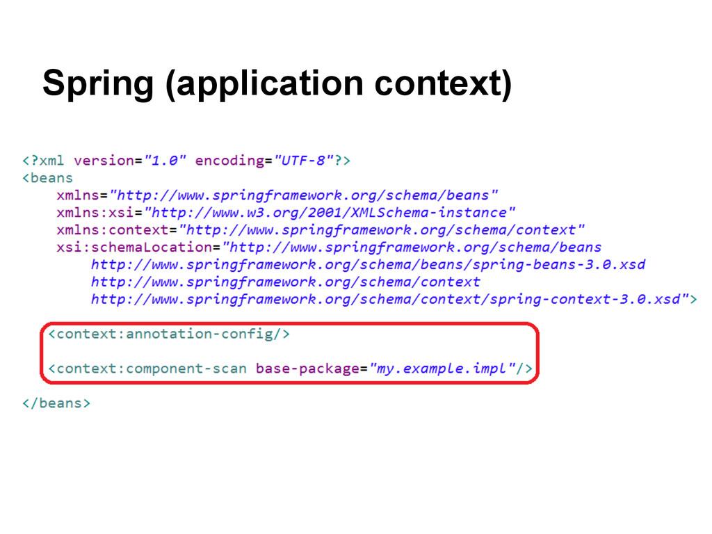Spring (application context)
