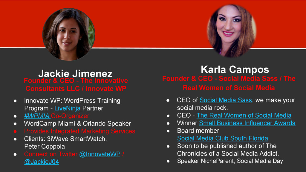 Our Bios We are the Real Women of Social Media ...