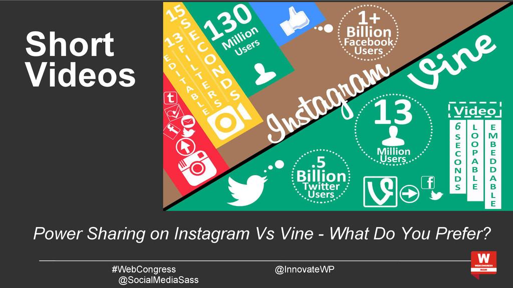 Short Videos #WebCongress @InnovateWP @SocialMe...