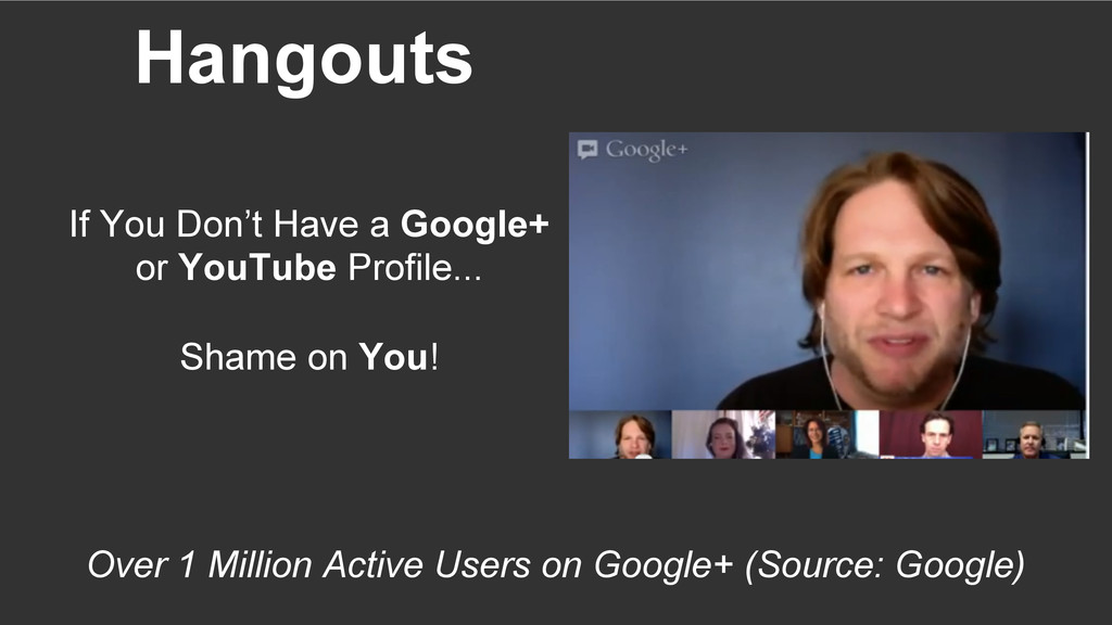 Hangouts Over 1 Million Active Users on Google+...