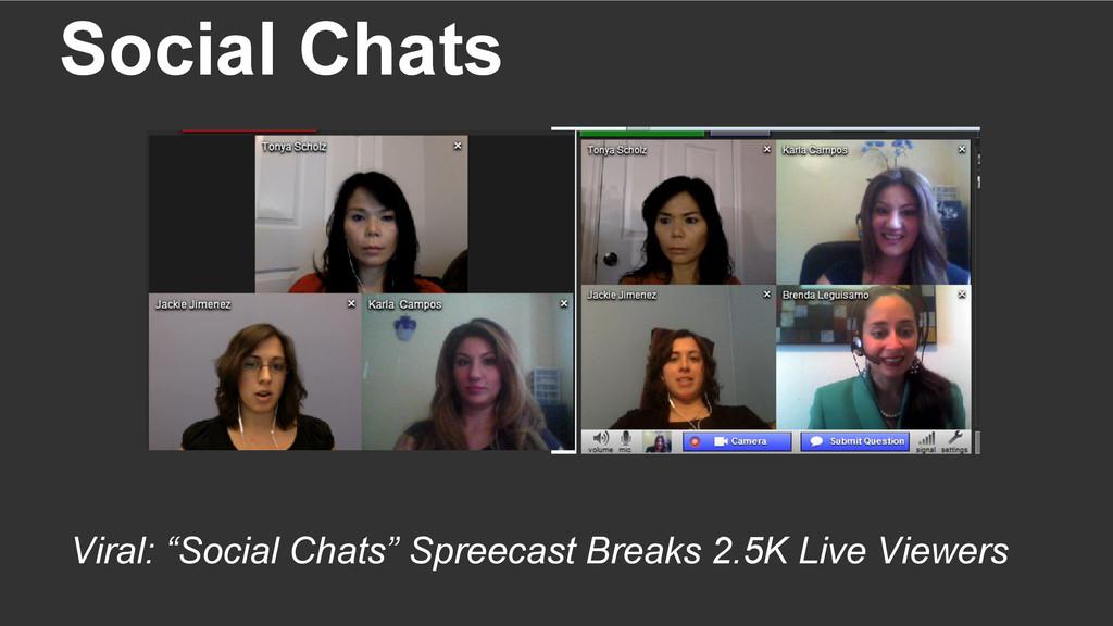 """Social Chats Viral: """"Social Chats"""" Spreecast Br..."""