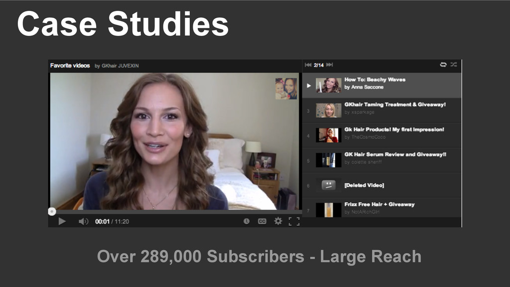 Case Studies Over 289,000 Subscribers - Large R...