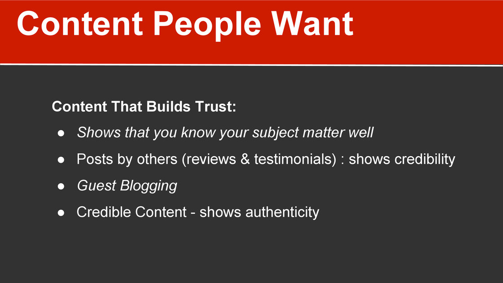 Content People Want Content That Builds Trust: ...