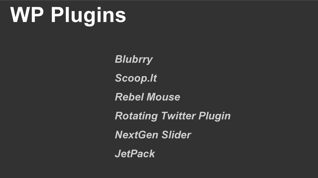 WP Plugins Blubrry Scoop.It Rebel Mouse Rotatin...