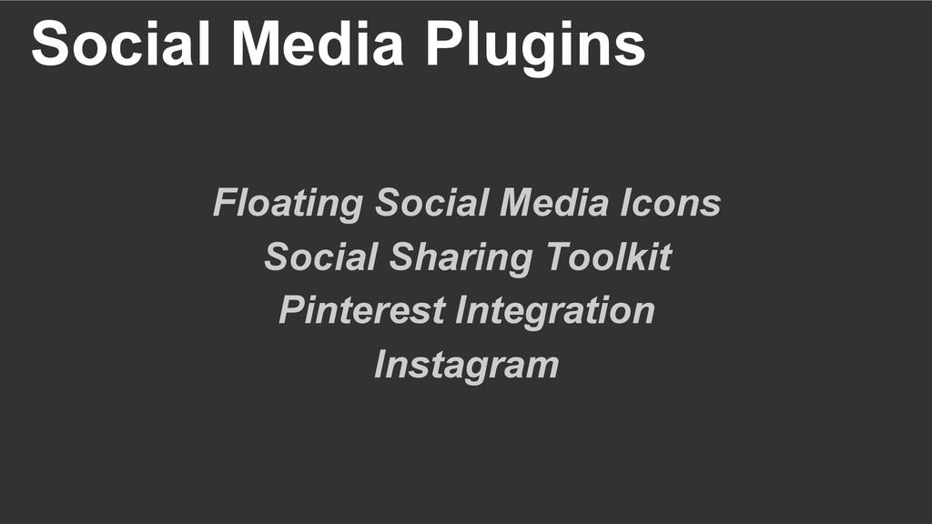 Social Media Plugins Floating Social Media Icon...