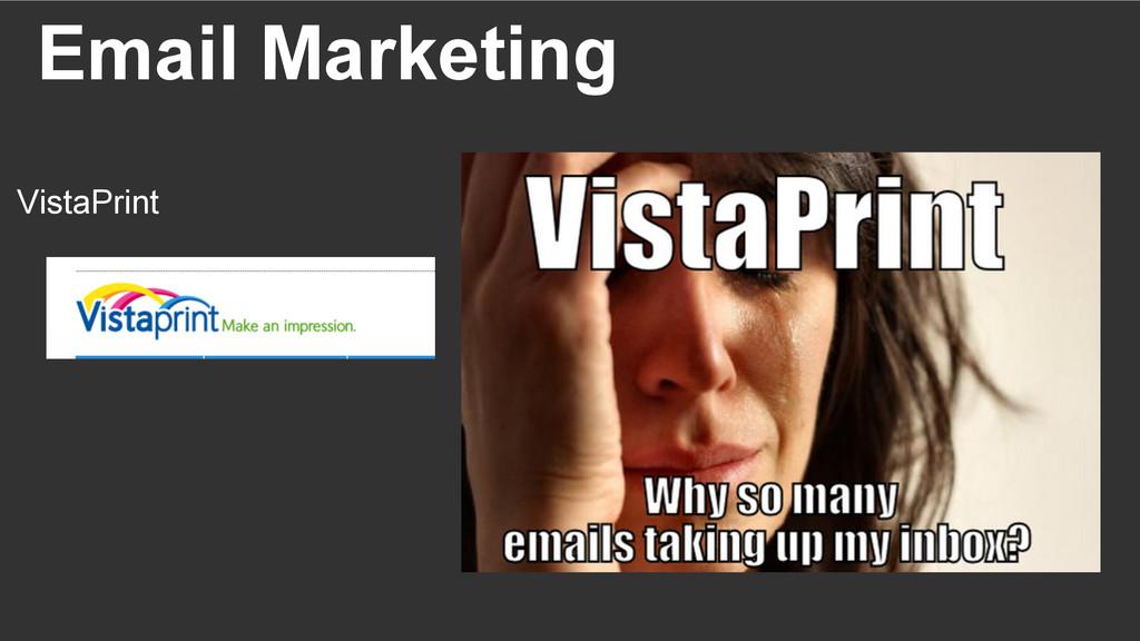Email Marketing VistaPrint