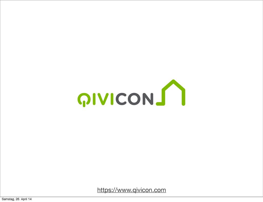 https://www.qivicon.com Samstag, 26. April 14
