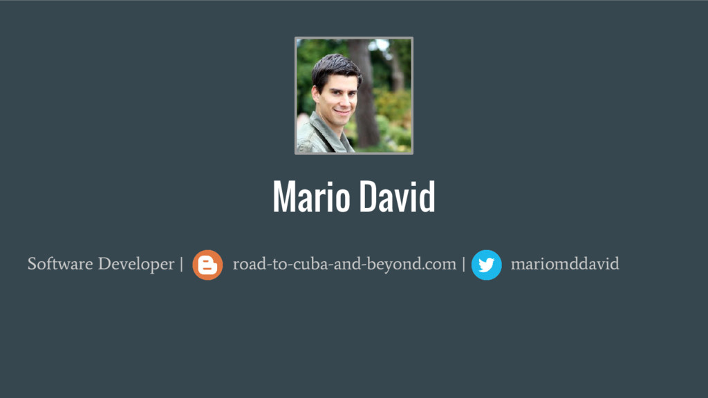 Mario David Software Developer   road-to-cuba-a...