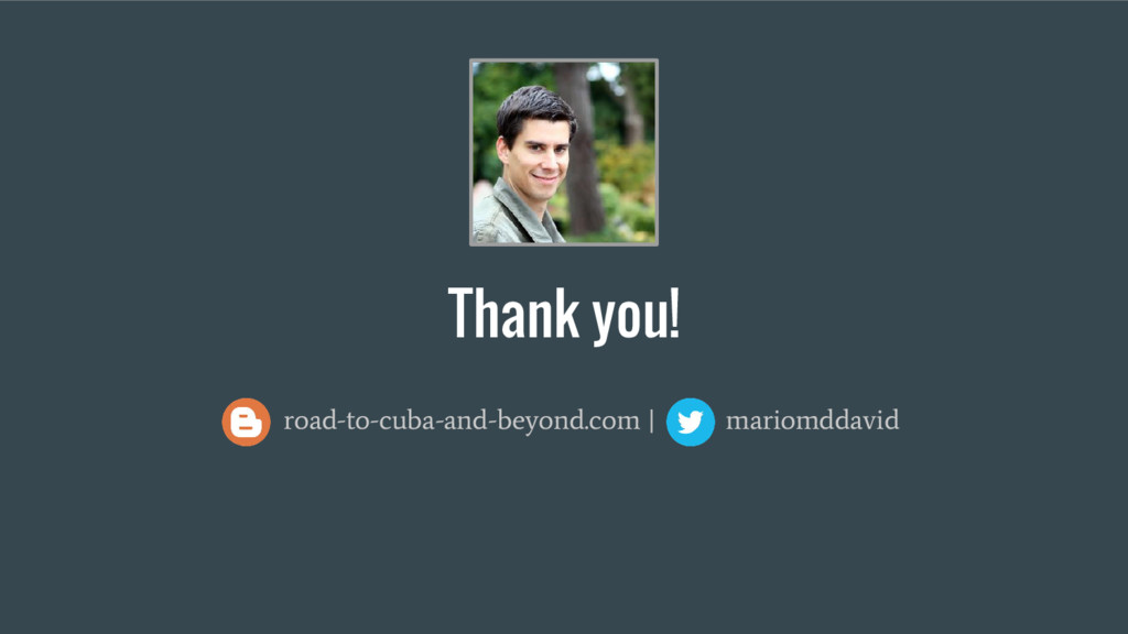 Thank you! road-to-cuba-and-beyond.com   mariom...