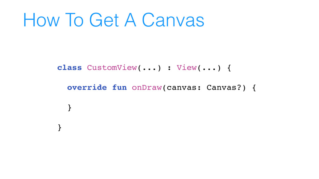 How To Get A Canvas class CustomView(...) : Vie...