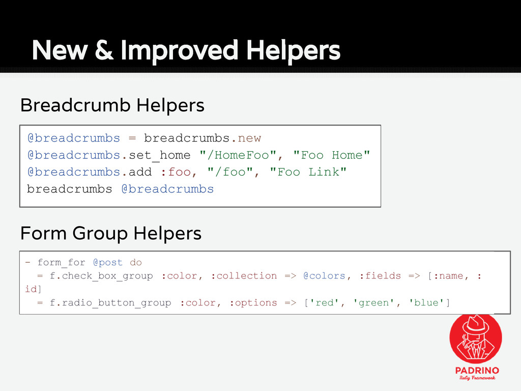 Breadcrumb Helpers Form Group Helpers New & Imp...