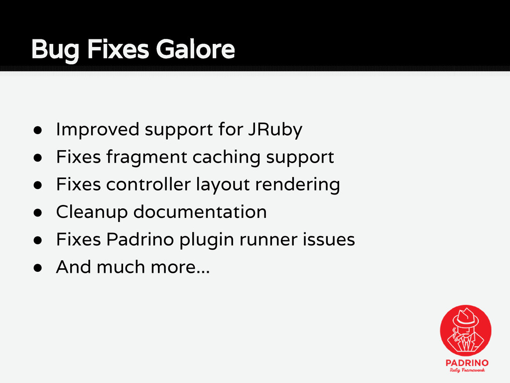 ● Improved support for JRuby ● Fixes fragment c...