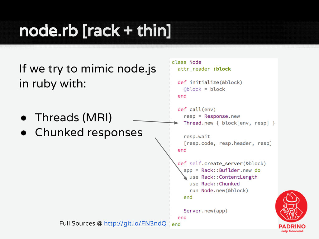 node.rb [rack + thin] If we try to mimic node.j...