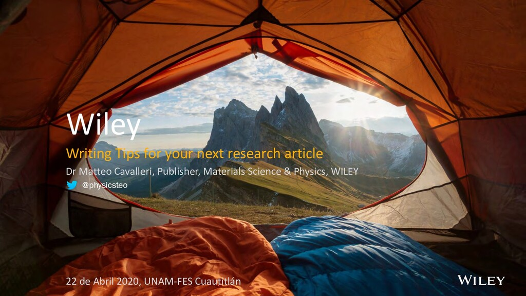 Wiley Writing Tips for your next research artic...