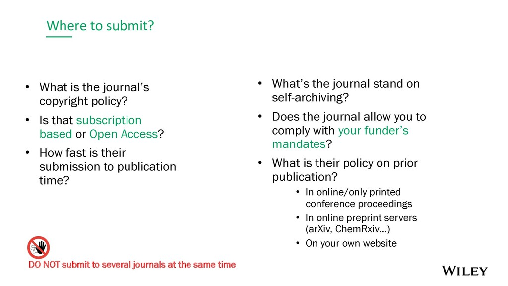 Where to submit? • What is the journal's copyri...