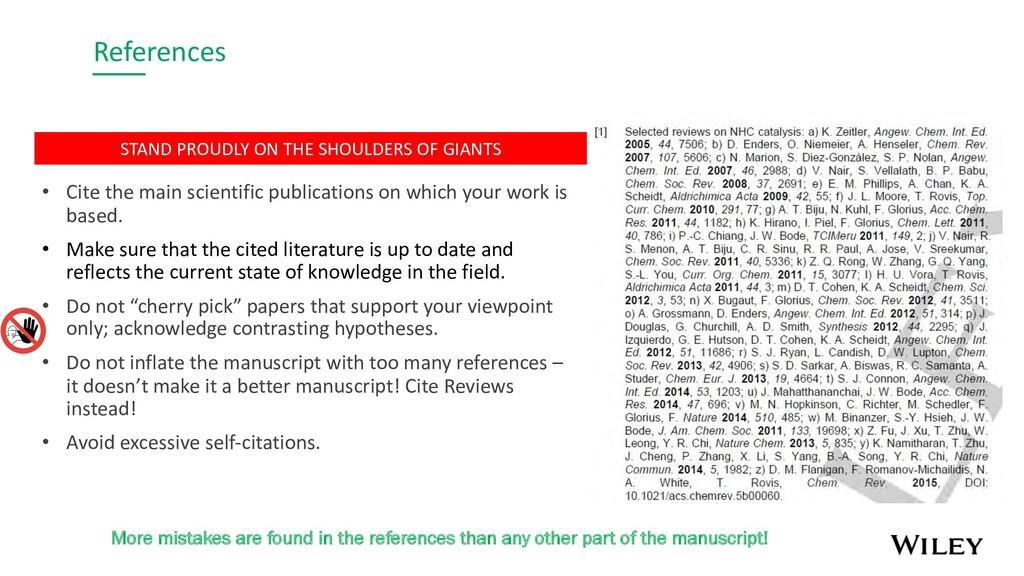 References • Cite the main scientific publicati...