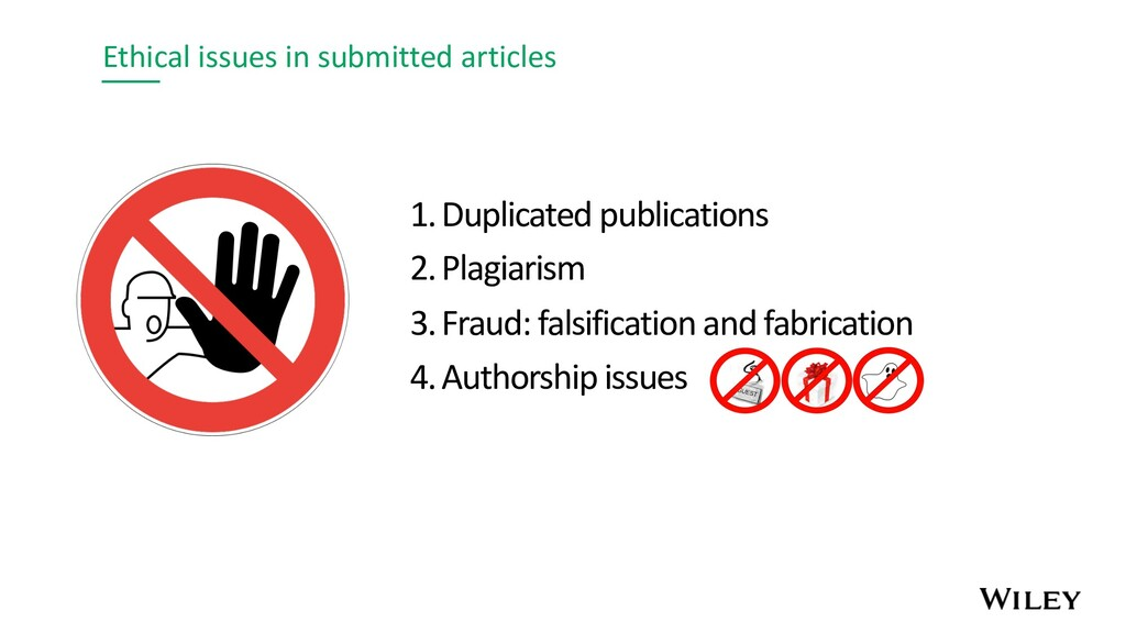 Ethical issues in submitted articles 1.Duplicat...