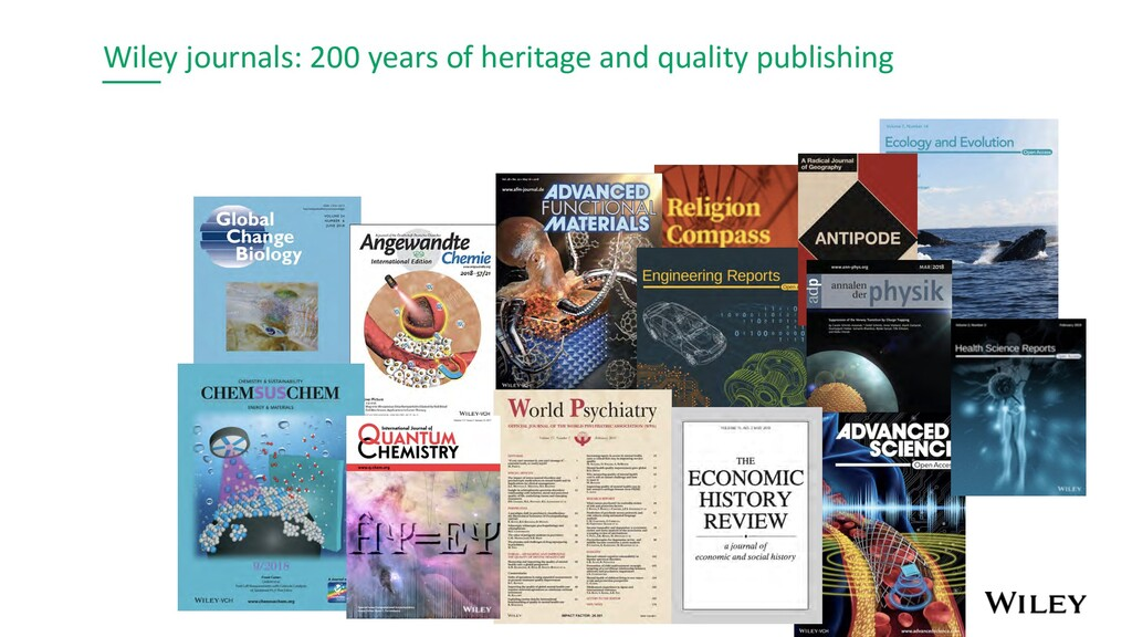 Wiley journals: 200 years of heritage and quali...