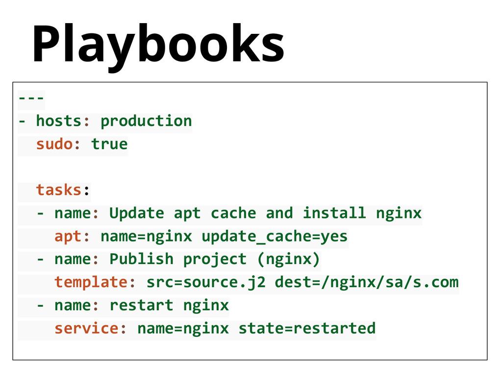 --- - hosts: production sudo: true tasks: - nam...