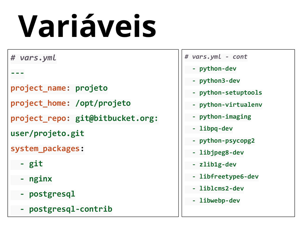 # vars.yml --- project_name: projeto project_ho...