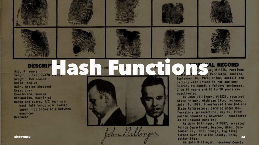 Hash Functions @jtdowney 32