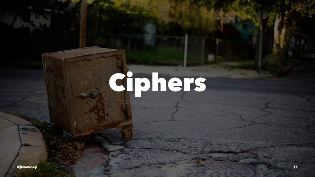 Ciphers @jtdowney 71
