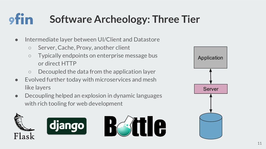 Software Archeology: Three Tier ● Intermediate ...