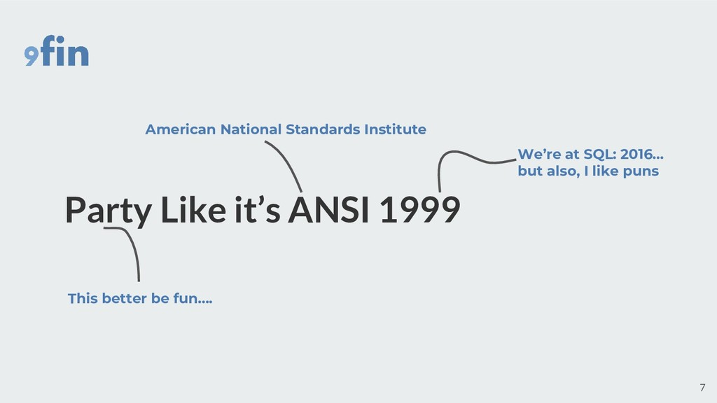 American National Standards Institute We're at ...