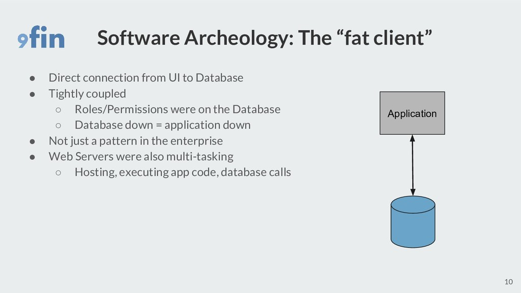 "Software Archeology: The ""fat client"" ● Direct ..."