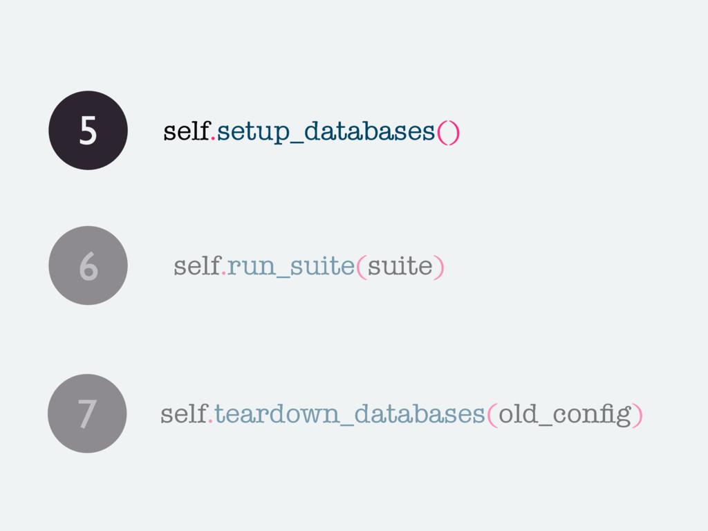 5 self.setup_databases() 6 self.run_suite(suite...