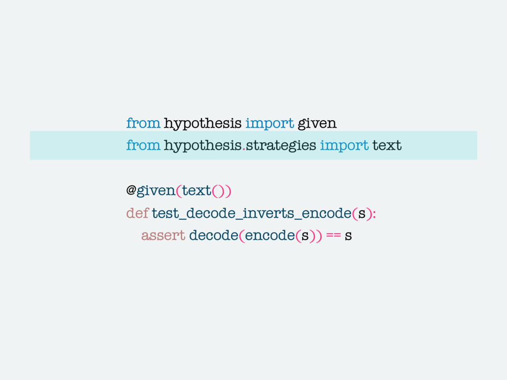 from hypothesis import given from hypothesis.st...