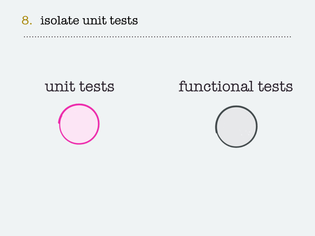 8. isolate unit tests unit tests functional tes...