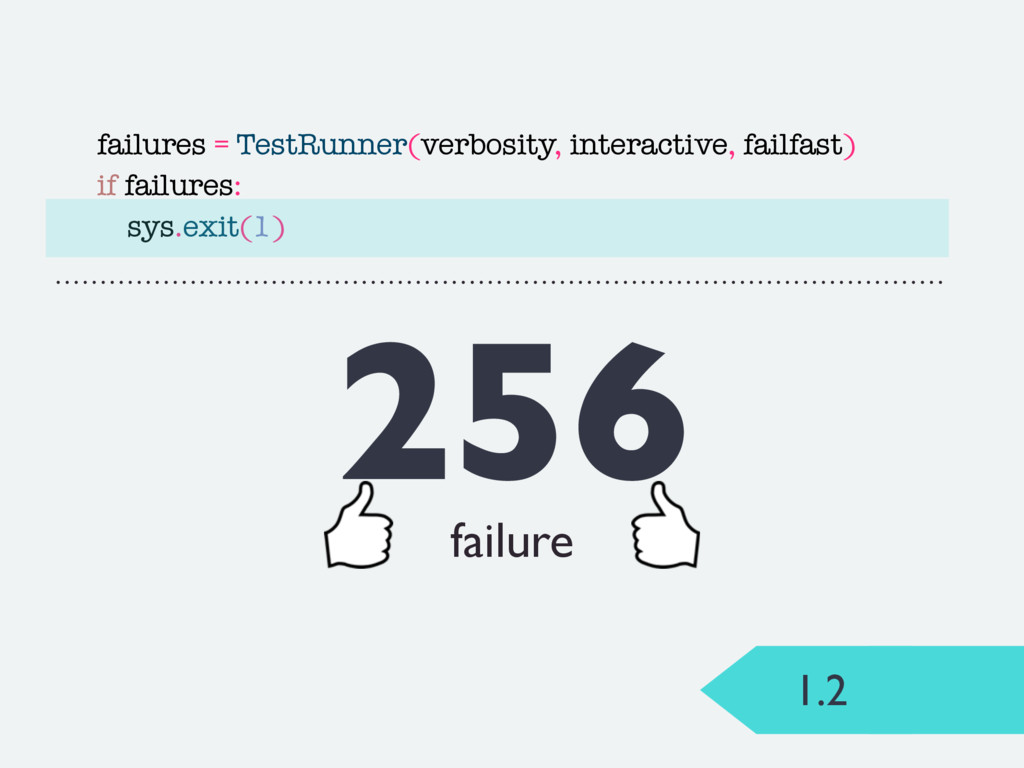 failures = TestRunner(verbosity, interactive, f...