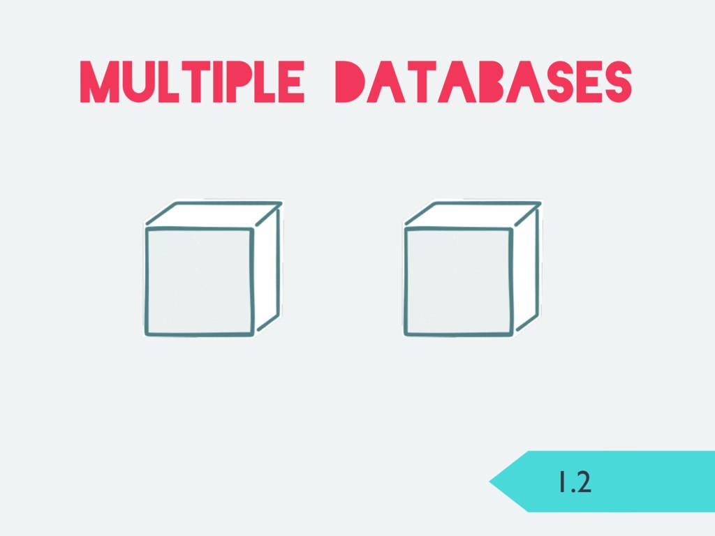 1.2 multiple databases