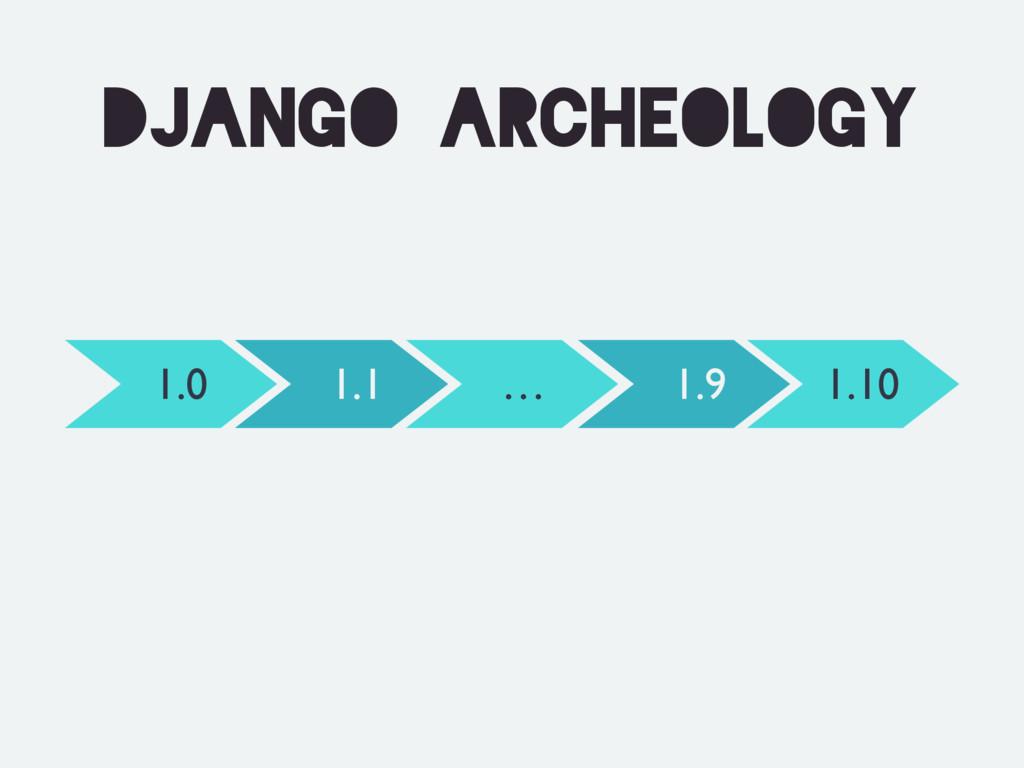 Django archeology 1.0 1.10 1.1 1.9 …