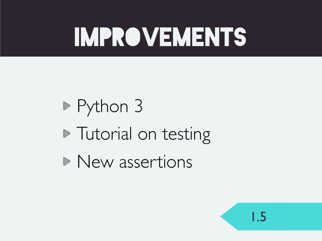 1.5 TEST_RUNNER improvements Python 3 Tutorial ...