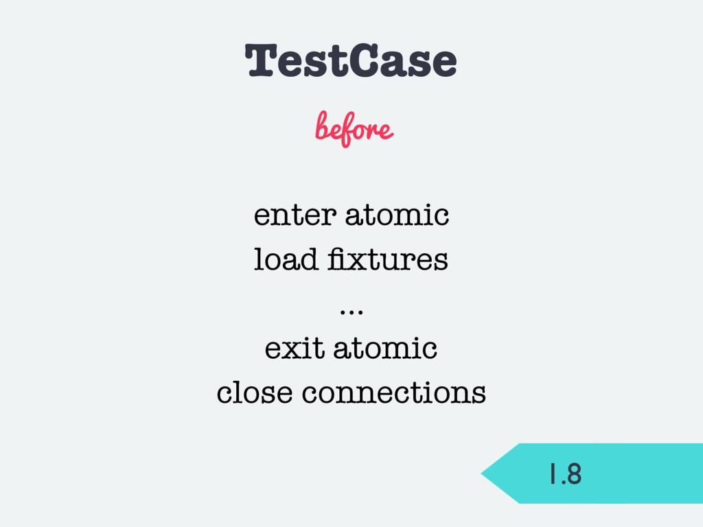 TestCase before enter atomic load fixtures … exi...