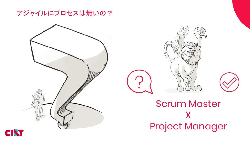 アジャイルにプロセスは無いの? Scrum Master X Project Manager