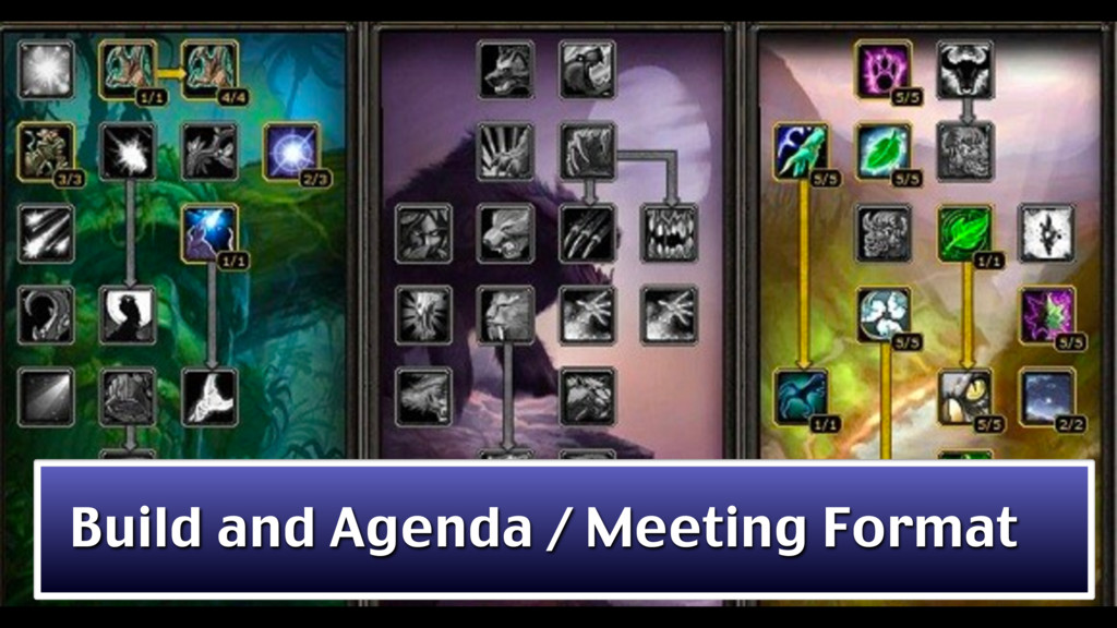 Build and Agenda / Meeting Format