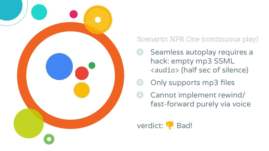 Scenario: NPR One (continuous play) ◎ Seamless ...
