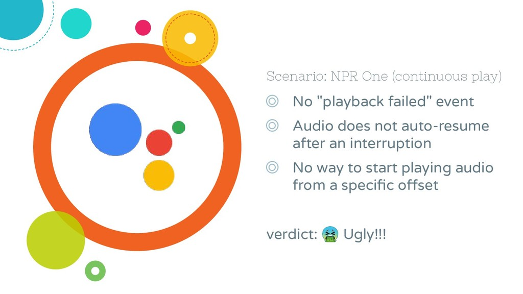 "Scenario: NPR One (continuous play) ◎ No ""playb..."