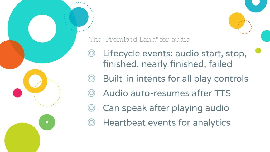 "The ""Promised Land"" for audio ◎ Lifecycle event..."