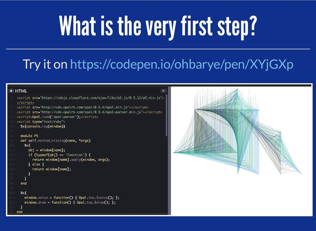 What is the very first step? What is the very f...