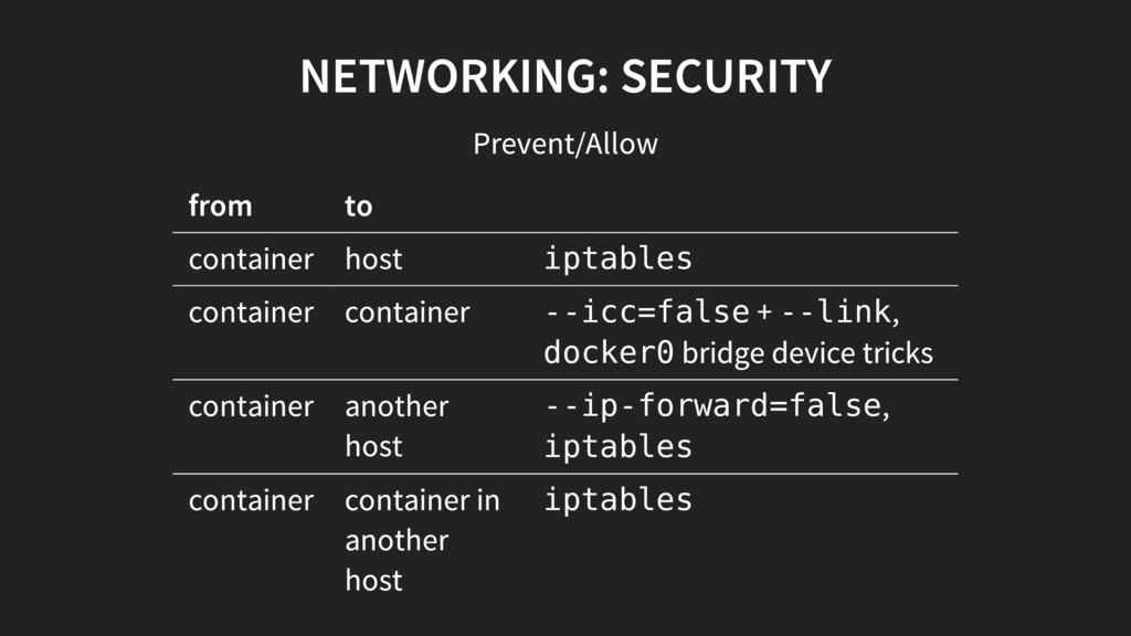 iptables --icc=false --link docker0 --ip-forwar...
