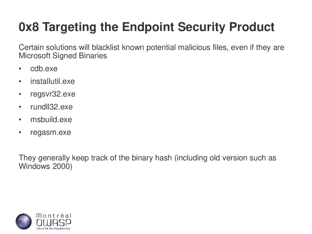 0x8 Targeting the Endpoint Security Product Cer...