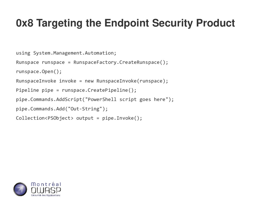 0x8 Targeting the Endpoint Security Product usi...