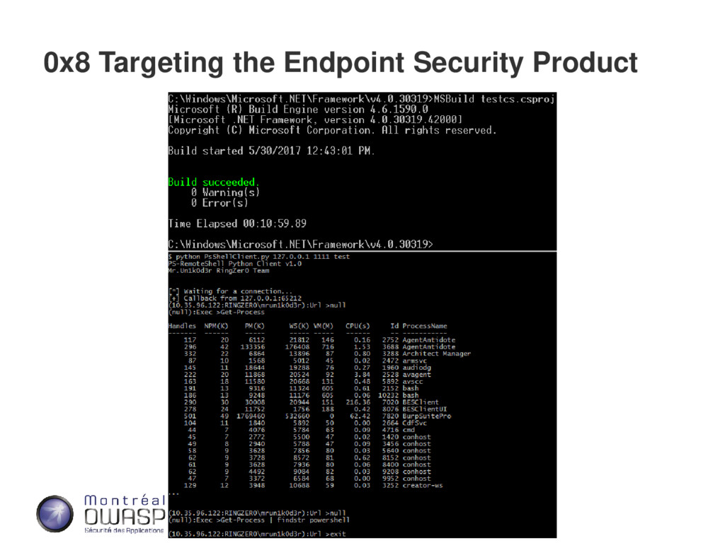 0x8 Targeting the Endpoint Security Product